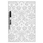 Black and white stylish damask pattern Dry-Erase boards