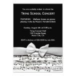 """Black and white stylish music recital invitation 5"""" x 7"""" invitation card"""