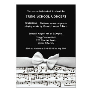 Recital Invitations Announcements Zazzle