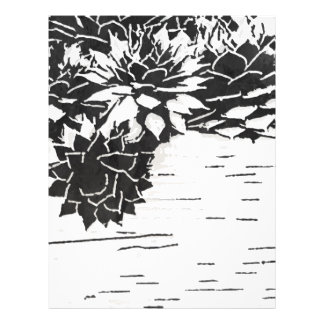 Black and White Succulent Flyer