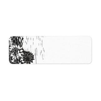 Black and White Succulent Label