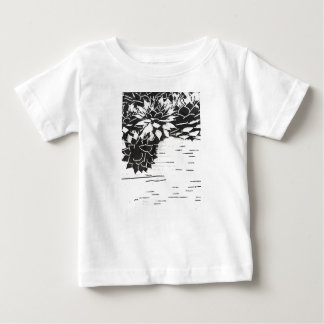 Black and White Succulent Plants Baby T-Shirt
