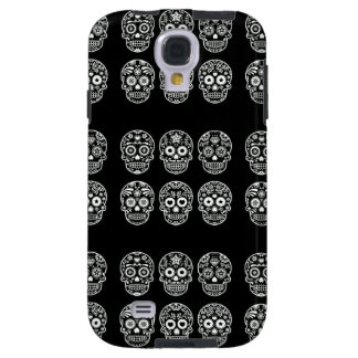 Black and White Sugar Skull Galaxy S4 Case
