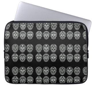 Black and White Sugar Skull Computer Sleeves