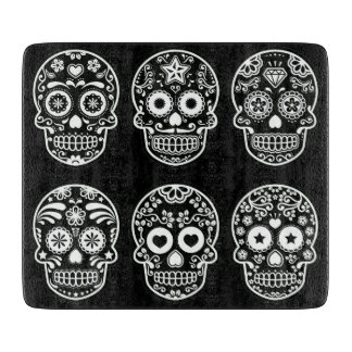 Black and White Sugar Skull Cutting Board