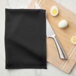 Black and White Sugar Skull Flower Kitchen Towel