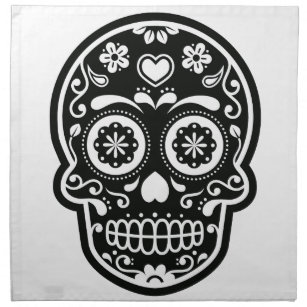 Black Sugar Skulls Napkins Zazzle
