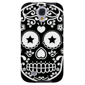 Black and White Sugar Skull Starry Eyes Galaxy S4 Case