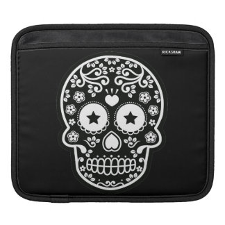 Black and White Sugar Skull Starry Eyes Sleeves For iPads