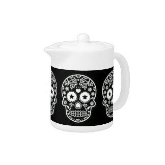 Black and White Sugar Skull Starry Eyes
