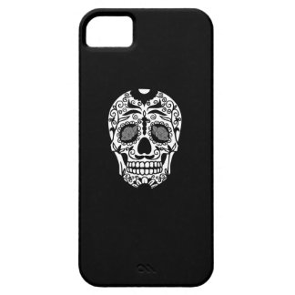 Black and White Sugar Skull With Rose Eyes iPhone SE/5/5s Case
