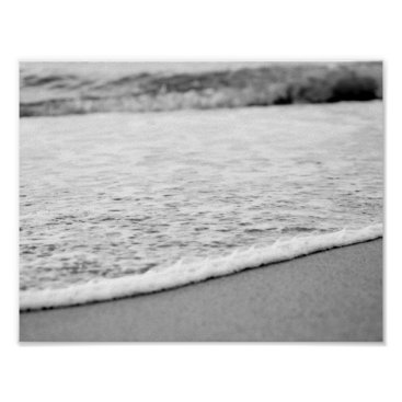 Beach Themed Black and White Summer beach Poster