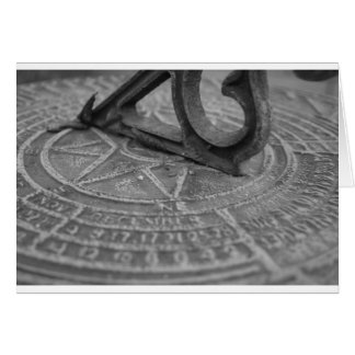 Black and white sun dial card