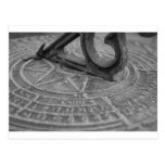 Black and white sun dial post card
