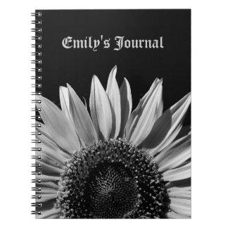Black and White Sunflower Notebooks