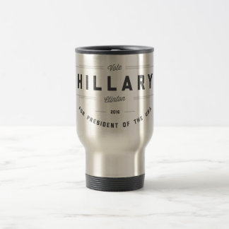 Black and White Sunny Election Clinton 2016 15 Oz Stainless Steel Travel Mug