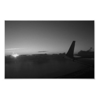 Black and white sunrise lear31 poster