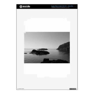 Black and White Sunset Ocean Scene Skin For iPad 3