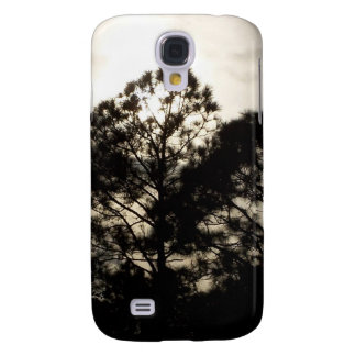 Black and white surreal photograph of pine trees samsung galaxy s4 case