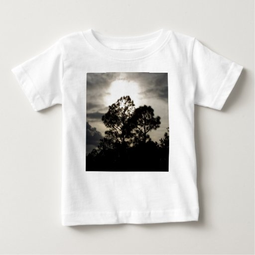 Black and white surreal photograph of pine trees t shirt