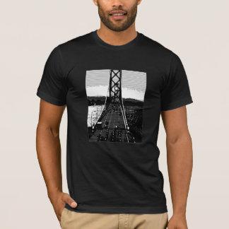 Black and White Suspension Bridge T-Shirt