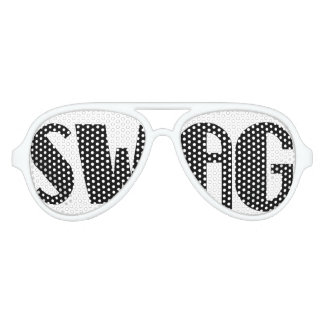 Black and White Swag Party Glasses
