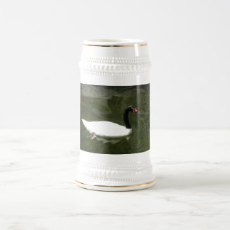 Black and White Swan Beer Stein