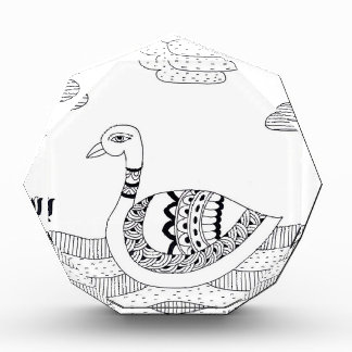 Black and white swan doodle award