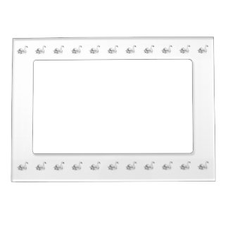 Black and White Swan Magnetic Picture Frame