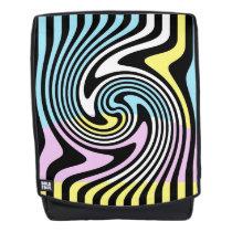 black and white swirl backpack