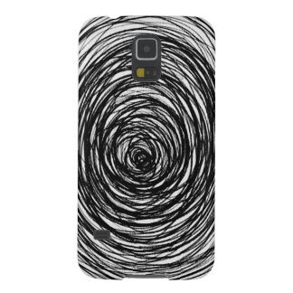 Black and White Swirl Galaxy S5 Cover