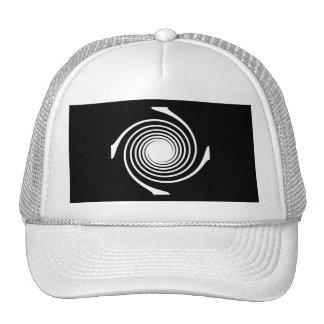 Black and White Swirl Design. Hats
