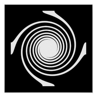 Black and White Swirl Design. Posters