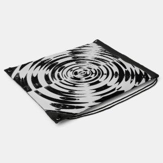 Black and White Swirl Drawstring Backpack