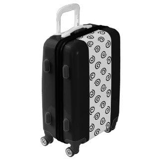 Black and White Swirl Pattern Luggage