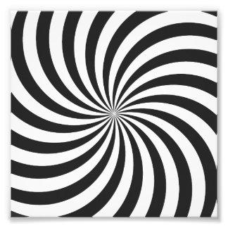 Black and White Swirl Pattern Photo Print