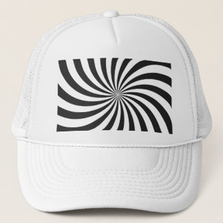 Black and White Swirl Pattern Trucker Hat