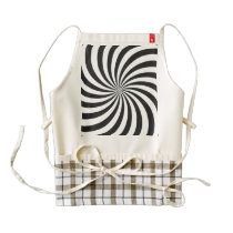 Black and White Swirl Pattern Zazzle HEART Apron