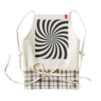 Black and White Swirl Pattern Zazzle HEART Apron