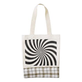Black and White Swirl Pattern Zazzle HEART Tote Bag