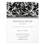 Black and White Swirl Rehearsal Dinner Card Personalized Announcements