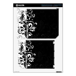 Black and White Swirl Skin For Nintendo Wii