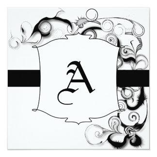 Black And White Swirls And Twirls Card