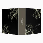 Black and white swirls binder
