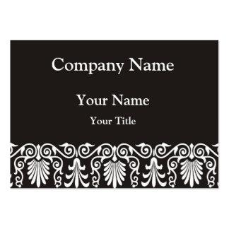 Black And White Swirls Business Card