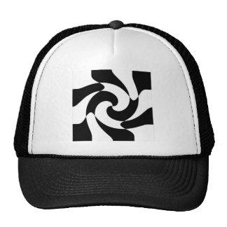 Black And White Swirls Hat