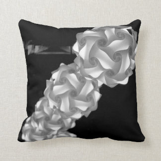 black and white swirly lights neat abstract pillow