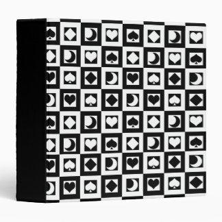 Black and White Symbols Binder