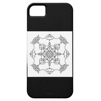 black and white symmetric mosaic iPhone 5 case