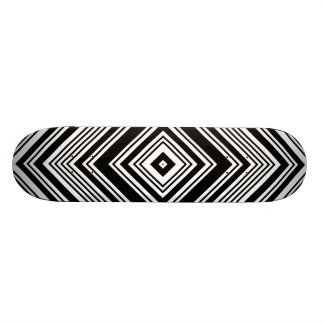 Black and White Symmetrical Design. Skateboard Deck
